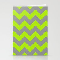 Chevron Lime Stationery Cards