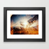 Flying is Made of the Sky, Sun and Stars Framed Art Print
