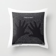 No266 My POLTERGEIST minimal movie poster Throw Pillow
