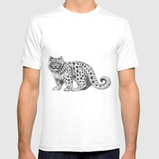 Snow Leopard cub g142 Mens Fitted Tee White SMALL