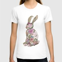 Spring Bunny Womens Fitted Tee White SMALL