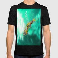 Fish  Mens Fitted Tee Tri-Black SMALL