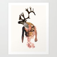Tough Moose Art Print