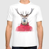 Cerf Mens Fitted Tee White SMALL