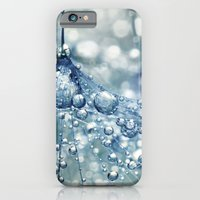 iPhone & iPod Case featuring Sparkling Dandy in Blue by Sharon Johnstone