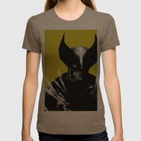 Logan the X-Man Womens Fitted Tee Tri-Coffee SMALL