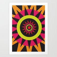 flor de oaxaca Art Print
