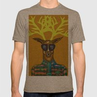 Oh Deer Mens Fitted Tee Tri-Coffee SMALL