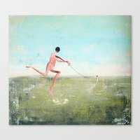 spaziergang mit ego Canvas Print