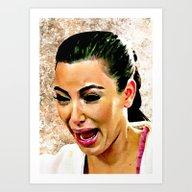 Funny Cute Ugly Crying F… Art Print