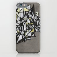 iPhone & iPod Case featuring Yellow Structure by Erin McGuire Art