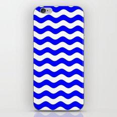 Wavy Stripes (Blue/White) iPhone & iPod Skin