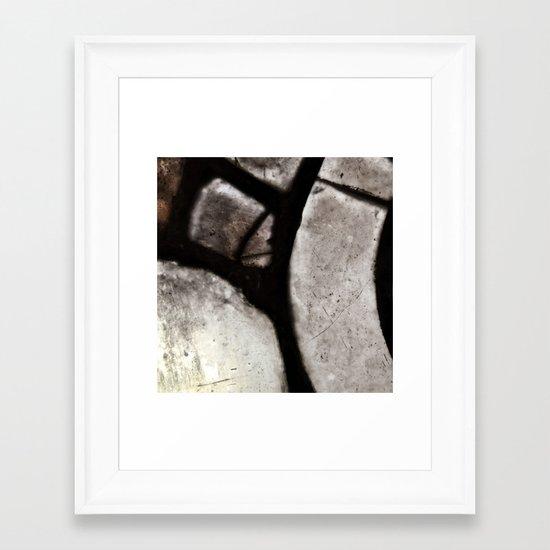 glass abstract 4 Framed Art Print