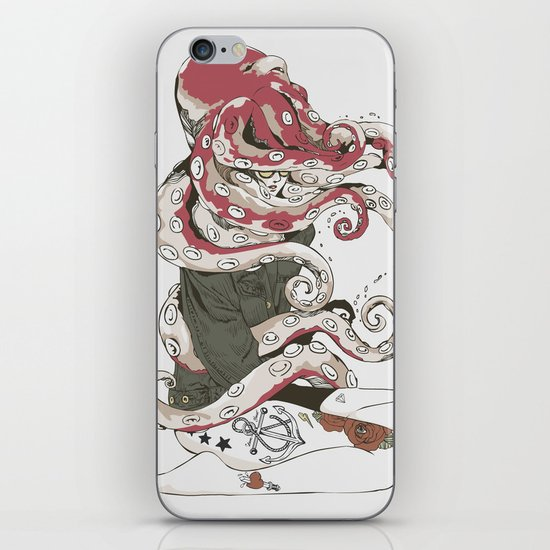 My head is an octopus iPhone & iPod Skin
