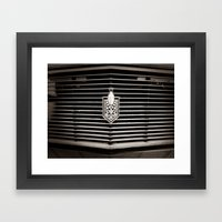 Car Grill Framed Art Print