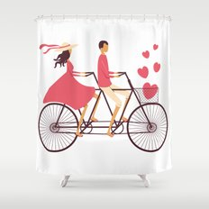 Love Couple Shower Curtain
