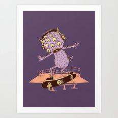 Hipster Monster Art Print