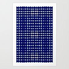 Deelder Blue Art Print