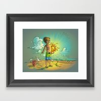 It's My Sun! Framed Art Print