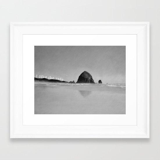 I like the rain. Framed Art Print