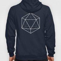 Icosahedron Pattern Blac… Hoody