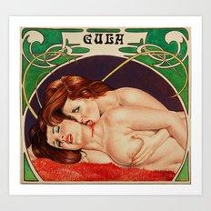 Erotic vampires Art Print