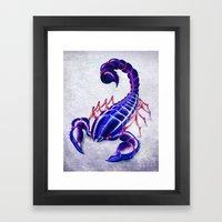 Purple Scorpion Framed Art Print