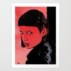 Lisbeth Salander Mara Rooney Art Print