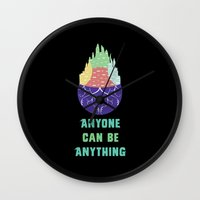 Zootopia - Anyone Can Be Anything [BLACK] Wall Clock