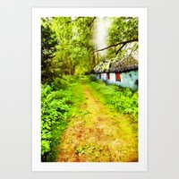 Woodsman's Cottage Art Print