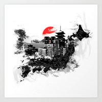 Abstract Tokyo-Shinjuku/… Art Print