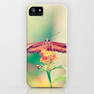 Butterfly Retro iPhone (5, 5s) Slim Case