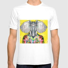 ELEPHAS Mens Fitted Tee SMALL White