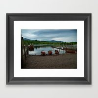 Keswick Marina Framed Art Print