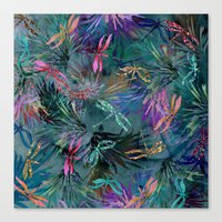Dragonfly Party Canvas Print