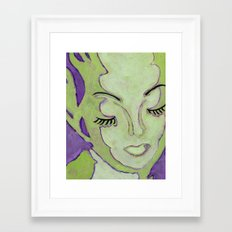 Mug Shot Green/Lares and Penates Series Framed Art Print