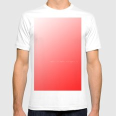 Solution White SMALL Mens Fitted Tee