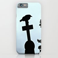 iPhone & iPod Case featuring Pere-Lachaise Raven by Biff Rendar