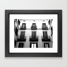 Black And White Building Framed Art Print
