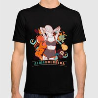 Alma Colorida Mens Fitted Tee Black SMALL