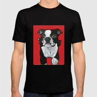 Bobo The Boston Terrier Mens Fitted Tee Black SMALL