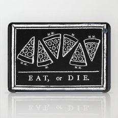 Eat, or Die (black) iPad Case