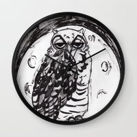 Night Owl v.1 Wall Clock