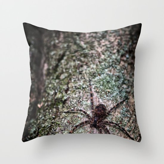 Creepy Spider Throw Pillow
