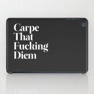 iPad Case featuring Carpe by WRDBNR