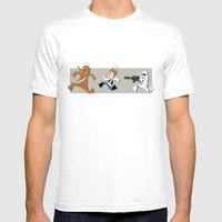 Han Solo & Chewbacca Mens Fitted Tee White SMALL
