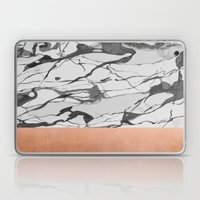 White Marble And Pink Co… Laptop & iPad Skin