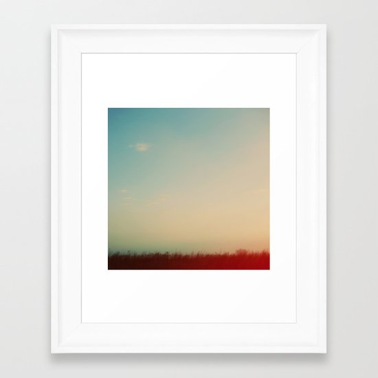 Rainbow Haze Framed Art Print