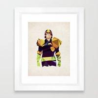 Polygon Heroes - Dredd Framed Art Print