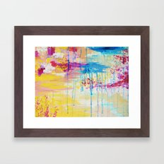 BRIGHTER DAYS - Beautiful Soft Pastel Colours Painting Rain Cloud Sunny Sky Abstract Nature Acrylic Framed Art Print